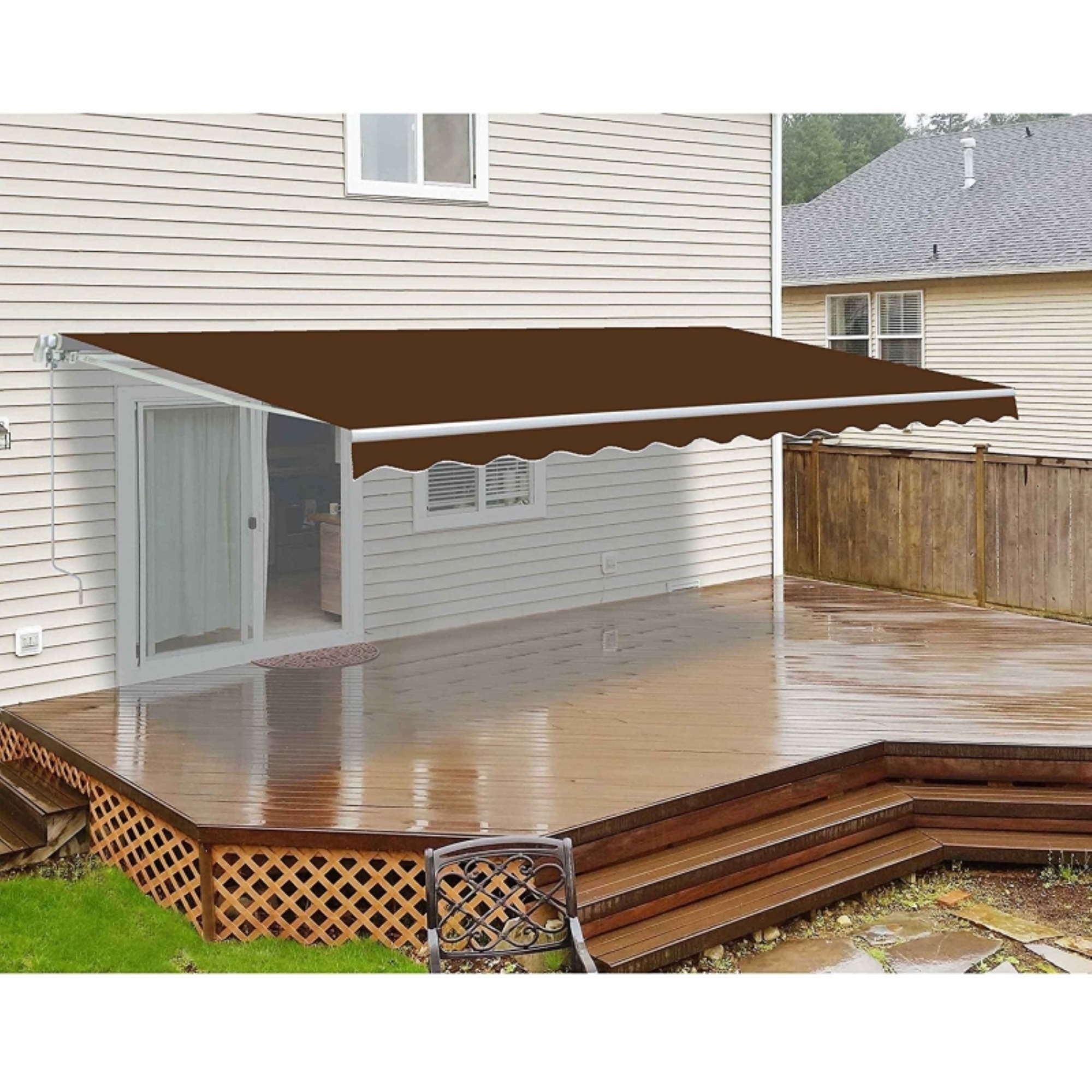ALEKO 10 x 8 Ft Retractable Home Patio Canopy Awning ...