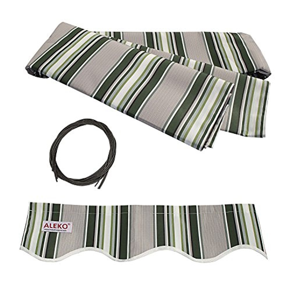 ALEKO Fabric Replacement For 6.5x5 Ft Retractable Awning Grey Color