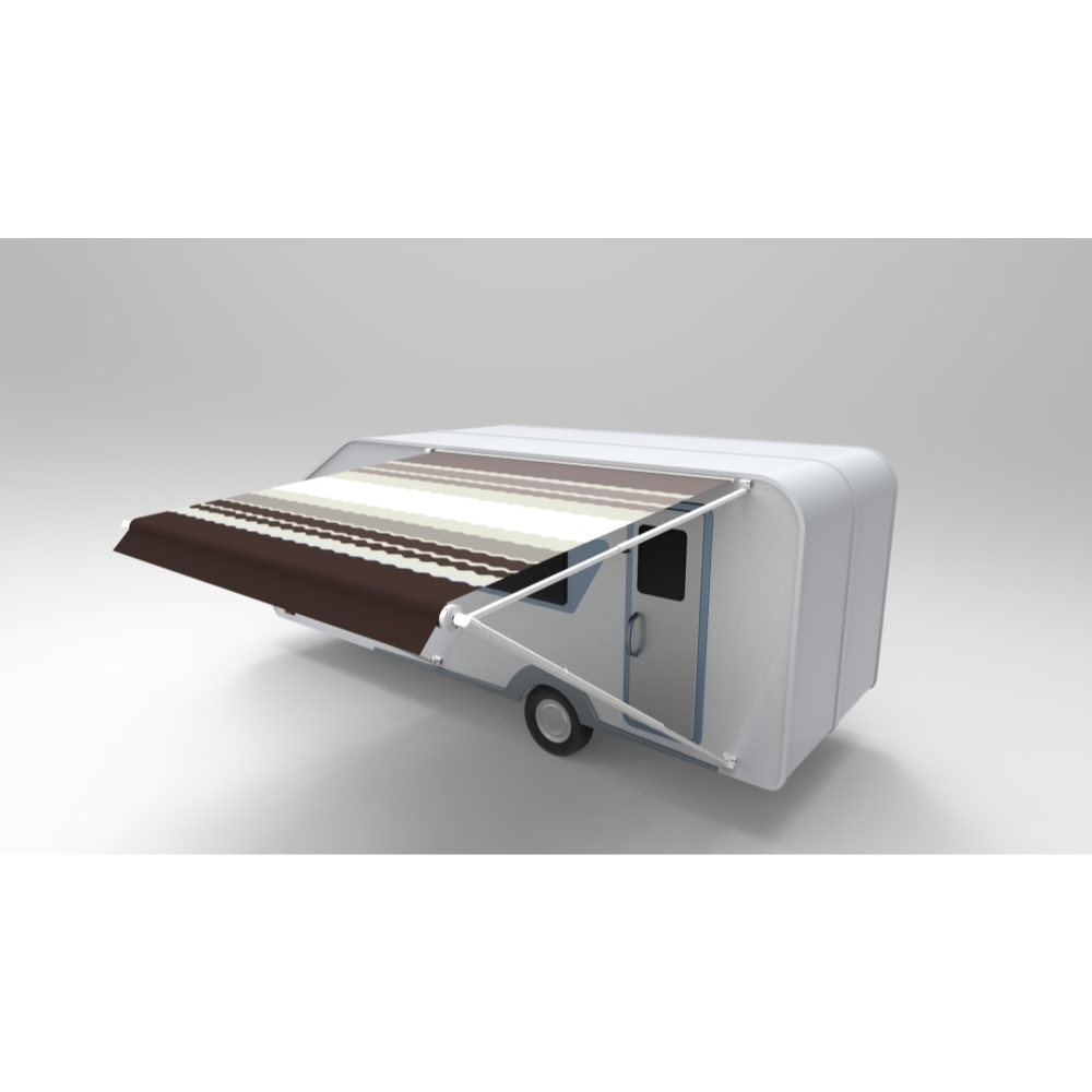 ALEKO Vinyl RV Awning Fabric Replacement 16X8 ft Brown ...