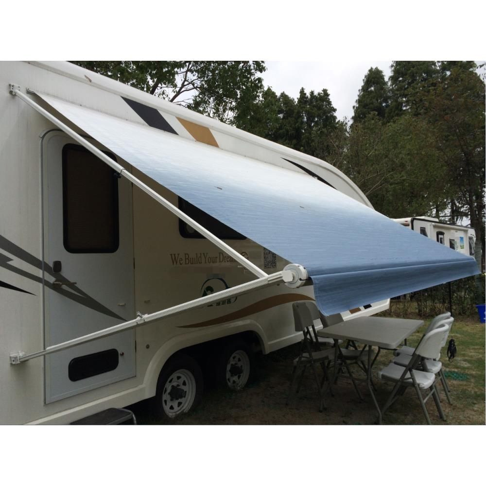 newest cd0b4 d2314 Details about ALEKO 15'X8' Retractable RV or Home Patio Canopy Awning Blue  Fade Color